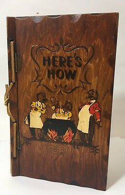 "Vintage 1941 ""Here's"" How Cocktail Mixed Drink Recipe Book W.C. Whitfield Wood"