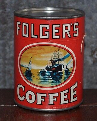 Vintage Folger's Coffee Puzzle In A Can - VG/EC