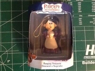 New Enesco Rudolph The Red Nosed Reindeer Mrs. Claus Hanging Ornament