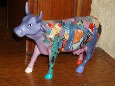 Cow Parade Figurines, Crayon COW # 9192,  Retired 2001