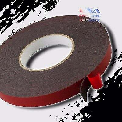 """2 Rolls Double Sided acrylic Foam High Strength Adhesive Tape 60 Ft. 3/4"""" Wide"""