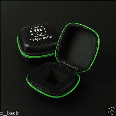 For Fidget Cube Anxiety Stress Relief Focus Dice Bag Box Carry Case Packet Black
