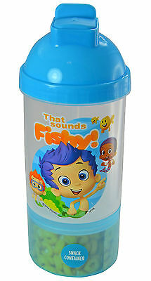 New Bubble Guppies Sip N Snack Canteen Cup and Container In One Nonny Gil Goby