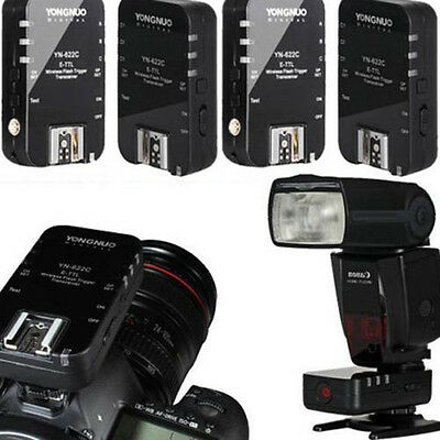 4 x Yongnuo YN-622C E-TTL Wireless Trigger Flash Transceiver For Canon Camera US