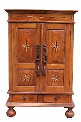 Traditional Style Armoire with Starburst Panels