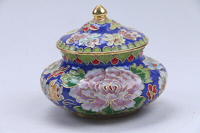 Exquisite Chinese Cloisonne painted Flower  Pot  AA907