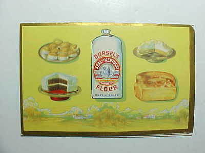 1920s DORSEL'S KENTUCKY FLOUR NEEDLE CASE WITH RECIPES DIX AND RANDS SHARPS VG+