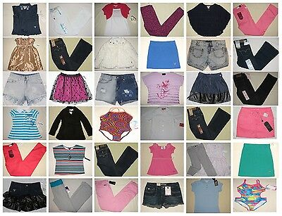 NWT Huge 100 Girl Top/Shirt/Jeans/Shorts/Skirt/Jacket Resale Lot 4 to XL 16 NEW
