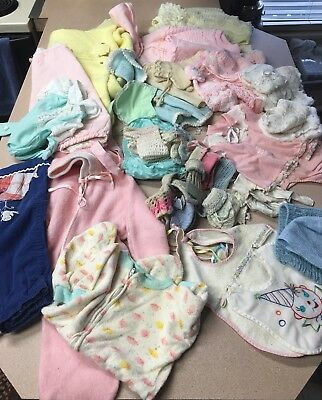 Vintage Baby Children Doll Clothes Large Lot 1950's 60's
