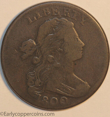 1800 S203 R3 Draped Bust Large Cent Raw CHOICE VG-FINE Starts 1-cent NO-RESERVE!