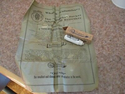 1920s QUACK MEDICAL COLUMBO INHALER & REFRESHER MADE IN GERMANY ORIGINAL BOX