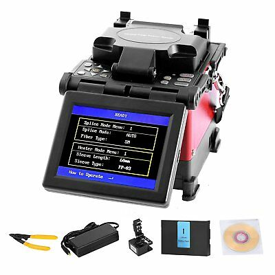 FTTH Fiber Optic Splicing Machine Fusion Electrodes USB Interface Cooling Tray