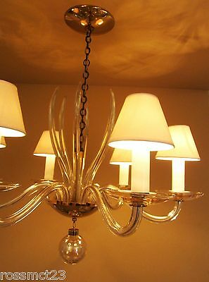 Vintage Lighting 1950s Mid Century quality chandelier by Lightolier