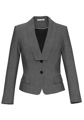 BIZ COLLECTION Ladies Cropped Jacket Gray Rococo 60315 Size 26 - Brand New!