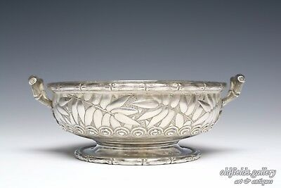 Antique Sterling Silver Kennard & Jenks Chalice Bowl Dish Bamboo Heavy 326 grams