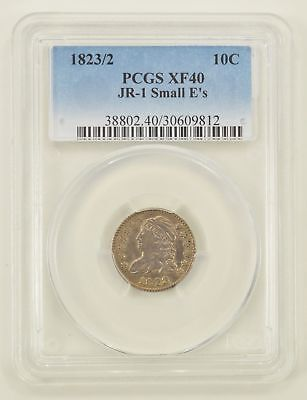 XF40 1823/2 Capped Bust Dime JR-1 Small E's - PCGS Graded *0233