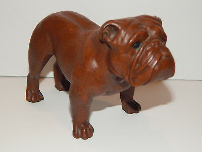 "Bulldog Crushed Pecan Red Mill USA 1992 Figurine 6"" Long X 4"" High Free Shipping"