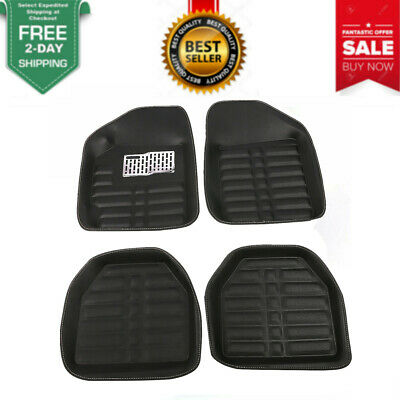 1Set Universal Car Floor Mats FloorLiner Front&Rear Carpet All Weather Mat New
