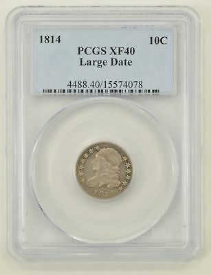 XF40 1814 Capped Bust Dime Large Date - PCGS Graded *0235