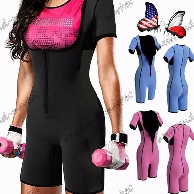 Women Shaper Vest Fully Body Suit Neoprene Belly Thermo Tight Firm Workout Slim
