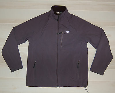 Mens's New Balance Weather Proof Soft Shell Jacket - Fleece Lined- Size M- Gray