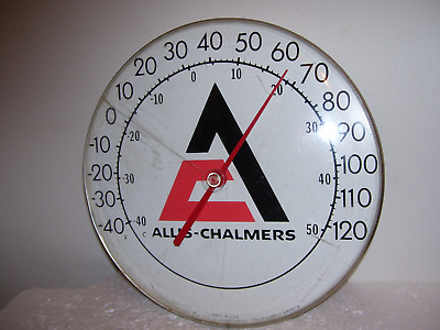 Vtg Allis Chalmers Implement Farm Tractors Agriculture Thermometer Sign Works