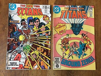 The New Teen Titans #10 & #34 1981 DC 2nd & 3rd Appearance of DeathStroke KEY VF