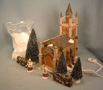 Department 56 Dickens Village Series Gift Set Somerset Valley Church In Box