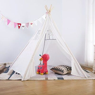 UINSTONE Teepee #Tipi #Kid's Play Tent #Foldable #PURE WHITE #CARRY BAG …