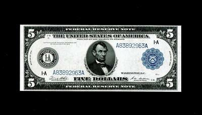 $5 1914 Federal Reserve Note ~~Uncirculated