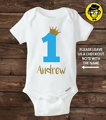 One year old baby boy shirt. First Birthday shirt. Personalized shirt.