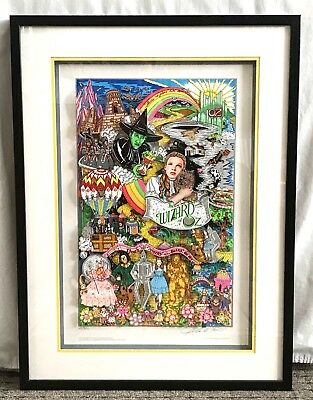 Wizard of Oz 3-D Art Collage By Charles Fazzino W/ COA 165/300