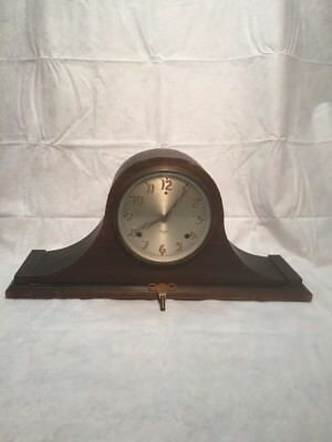 Gilbert 1807 Camelback Wood Mantle Clock Vintage