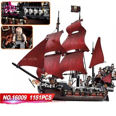 16009 Pirates of the Caribbean Queen Anne's Revenge 1151PCS Blocks Spielzeug Toy