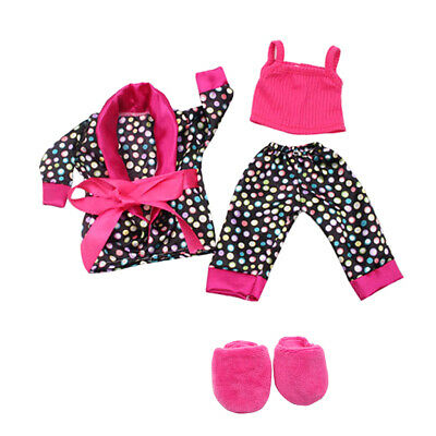 "For 18"" American Girl Our Generation Dolls Clothes Shoes Pajamas Set Slipper"