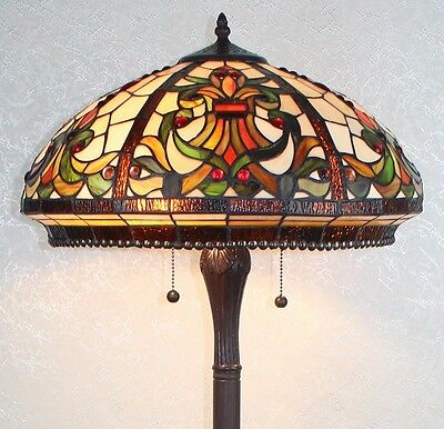 Tiffany Style Stained Glass Floor Lamp Templeton - FREE SHIP IN USA