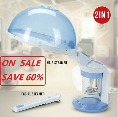 2 in 1 Stand Facial Steamer & 5X LED Magnifying Lamp Beauty Salon Spa Equipment