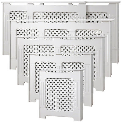 Radiator Cover White Cabinet Small Large Medium Adjustable