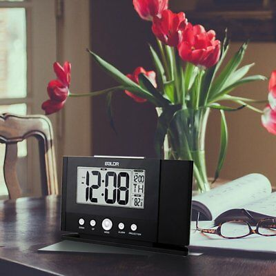 BALDR B0211ST-V2 Ceiling Wall Projection Clock Backlight LCD Snooze Watch UR