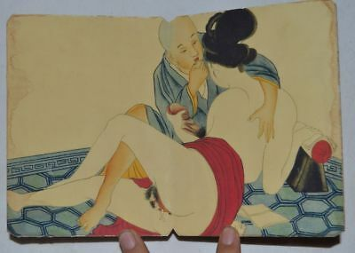 """CHINA OLD ALBUM FLODING BOOK""""Couples Story""""FOLK TRADITIONAL PAINTING RN"""