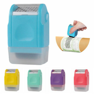 Mini Roller Stamp Self-Inking Stamp Messy Code Security Plus Guard Your ID
