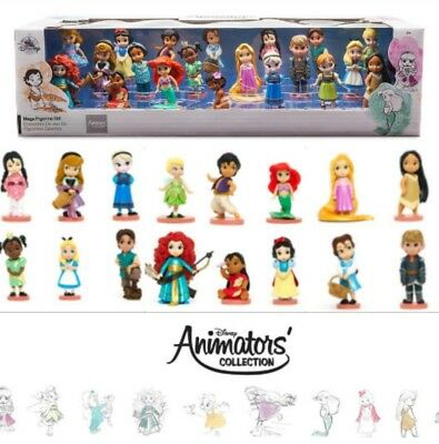 20 Disney Animators Collection Deluxe princess mini doll figures belle Moana set