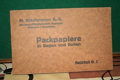 Altes Musterbuch Nr,2-Packpapiere-Ca,1900-1920??-Siehe Fotos
