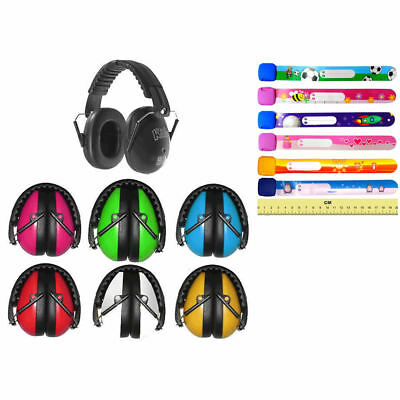 Kids Ear Defenders Muffs Earmuffs & Id Wrist Band Bracelet