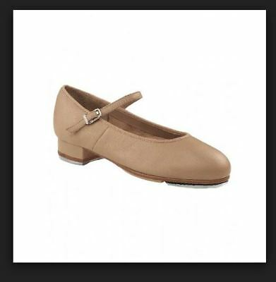 Capezio Toddler Tan Showtime Tapper leather tap shoe sz8.5M BNWT RRP$65.95 (53)