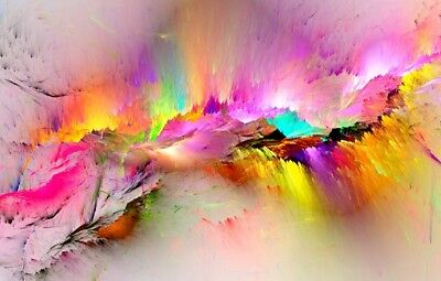 Abstract beautiful new colorful Painting Canvas Print Home Decor Wall Art GIFT