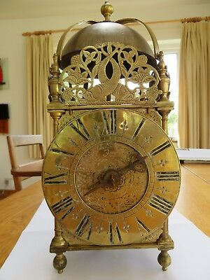 brass lantern clock single hand