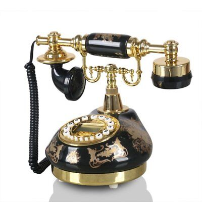 Ceramic Antique Telephone European Retro Desk Phone Decoration Vintage Landline