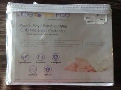 Little Ones Pad Pack N Play Crib Mattress Protector Fitted Very Soft (S3B)