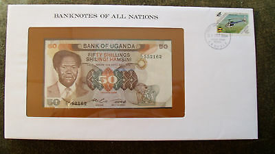 Banknotes of All Nations Uganda 1985 50 shillings P20 UNC Prefix C/10*